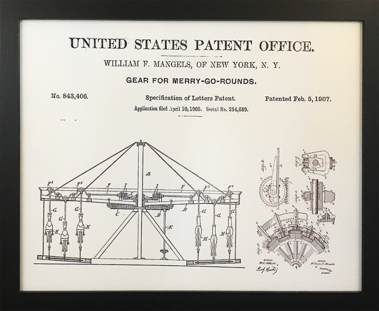 A 1905 Patent for Merry-Go-Rounds
