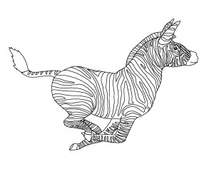 coloring pages of carousel zebra - photo#2